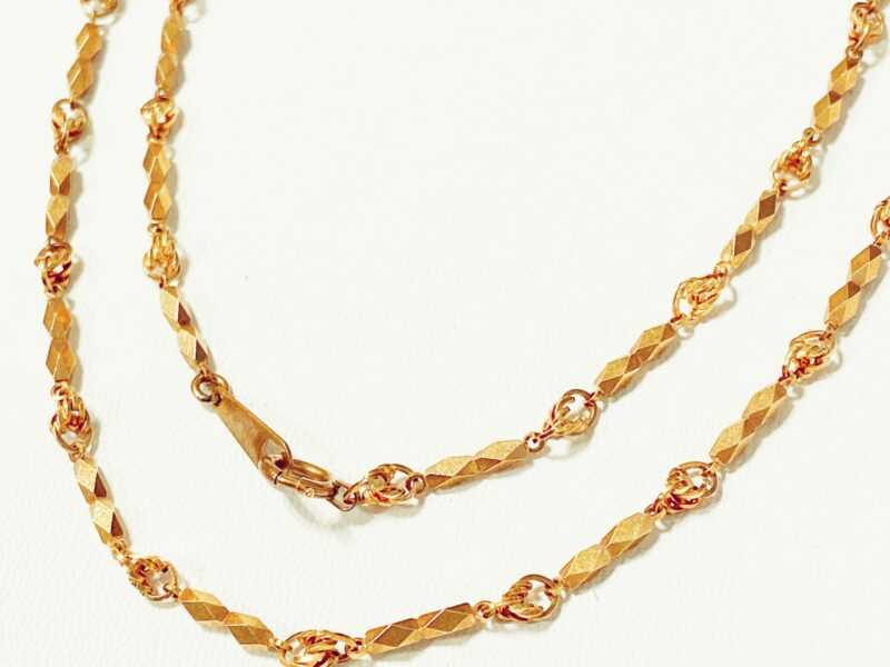 K18ゴールドデザインネックレスをお買取りいたしました!京都の質屋【質】フクユウ