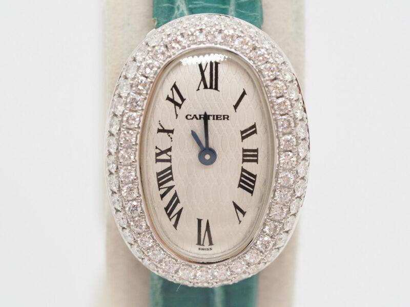 カルティエミニベニュワール2重ダイヤベゼルクォーツ時計ヤフオクにて販売中です!京都の質屋【質】フクユウ