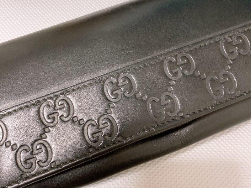 グッチシマ二つ折り長財布をご紹介!京都の質屋【質】フクユウ