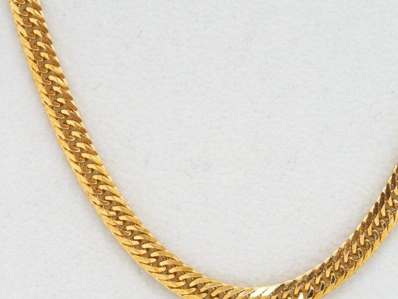 ヤフオク出品中K18喜平6面カットトリプルチェーンゴールドネックレス50cm20gをご紹介!京都の質屋【質】フクユウ