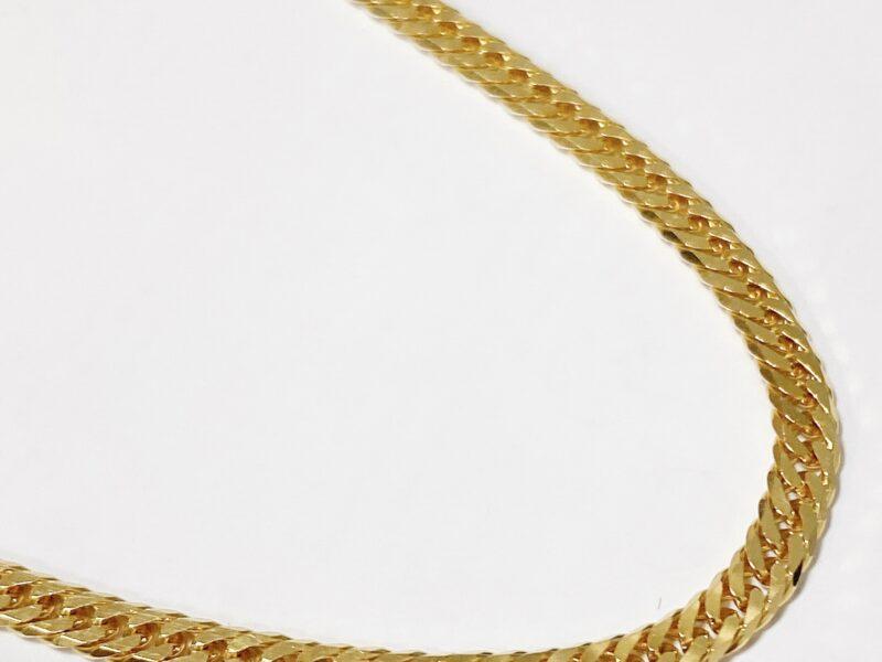 K18喜平6面カットダブルチェーンゴールドネックレス50cm10.3gをお買い取りいたしました!京都の質屋【質】フクユウ