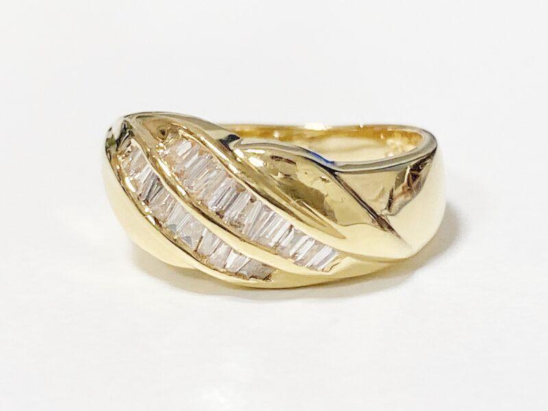 K18メレダイヤモンド0.33ctゴールドリング4.9gをお買い取りいたしました!京都の質屋【質】フクユウ